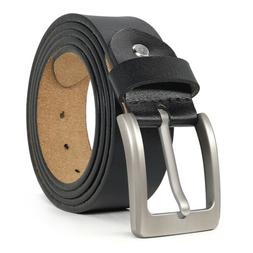 New Big and Tall Size S-9XL Mens Belt for Jeans 100% Real Le