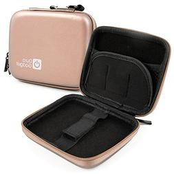 DURAGADGET Rose Gold EVA Storage Case with Soft Lining Compa