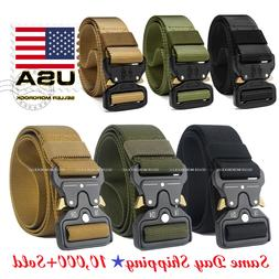 Casual Military Tactical Belt Mens Army Combat Waistband Res