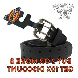 DICKIES MEN'S 2 HOLE LEATHER BELT DOUBLE PRONG BRIDLE INDUST