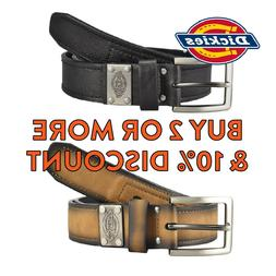 DICKIES BELT MENS HEAVY DUTY LEATHER BELT FORMAL INDUSTRIAL