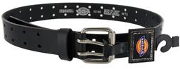 DICKIES MENS 2 HOLE LEATHER WORK BELT DOUBLE PRONG BRIDLE IN