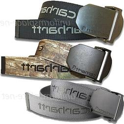 Carhartt Belt Mens Nylon Webbing Belt Metal Buckle 2260 Gray