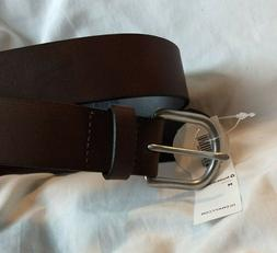 Boys Size Medium Old Navy Black Leather Belt With Silver Buc