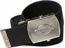 Dickies Cotton Web Belt w/Military Buckle - Black - One Size