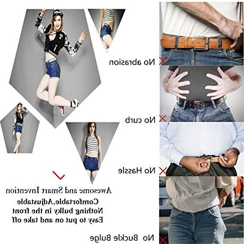 """No Buckle Stretch For Women/Men Belt 1-1/4"""" Size for"""