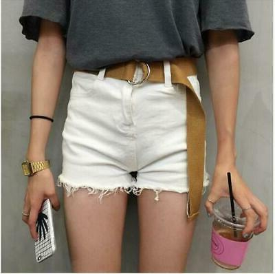 Canvas Belt Silver Buckle Style for Women Small