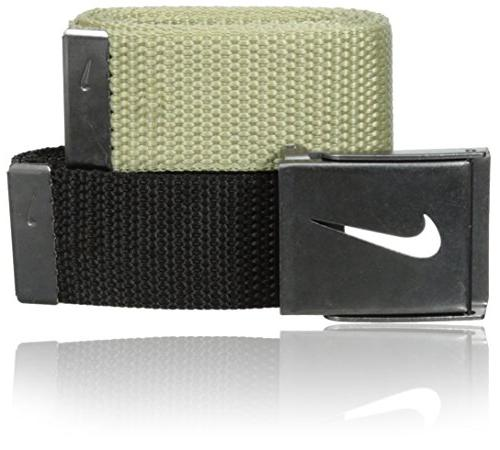 Nike Golf 2-in-1 Web Pack Cotton Belts - One Size Fits Most