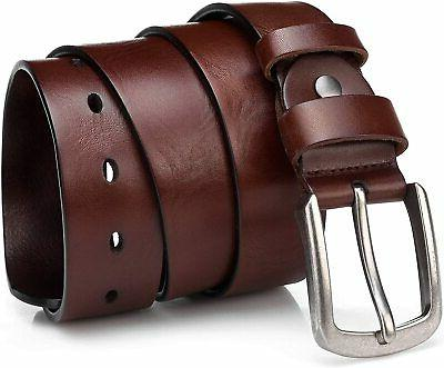 Men's Cow Leather Belt Buckle Belts