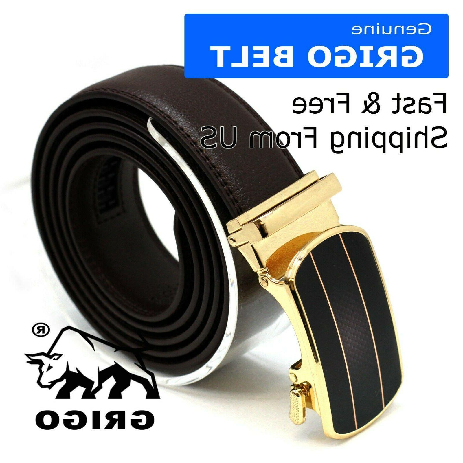 Men's Belt With Automatic Buckle Holeless