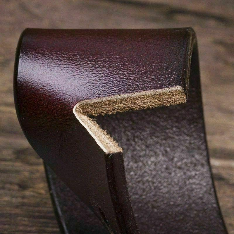 Mens Genuine Leather Belt Belts Casual Buckle Stock
