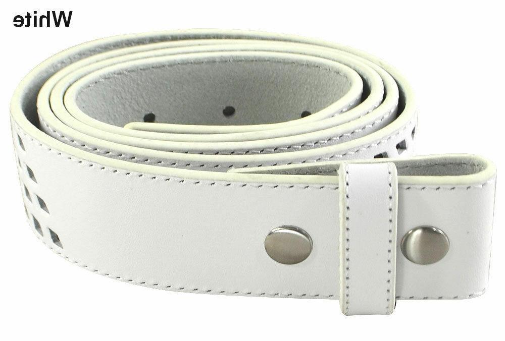 mens perforated snap on shadow golf belt