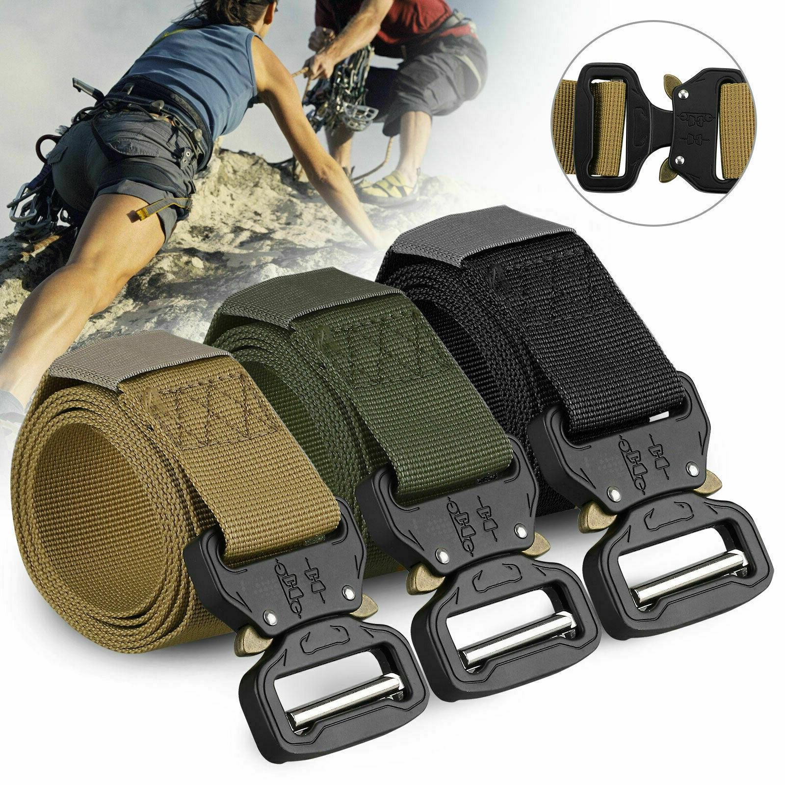 New Military Belt Mens Army Combat Waistband Rescue Rigger