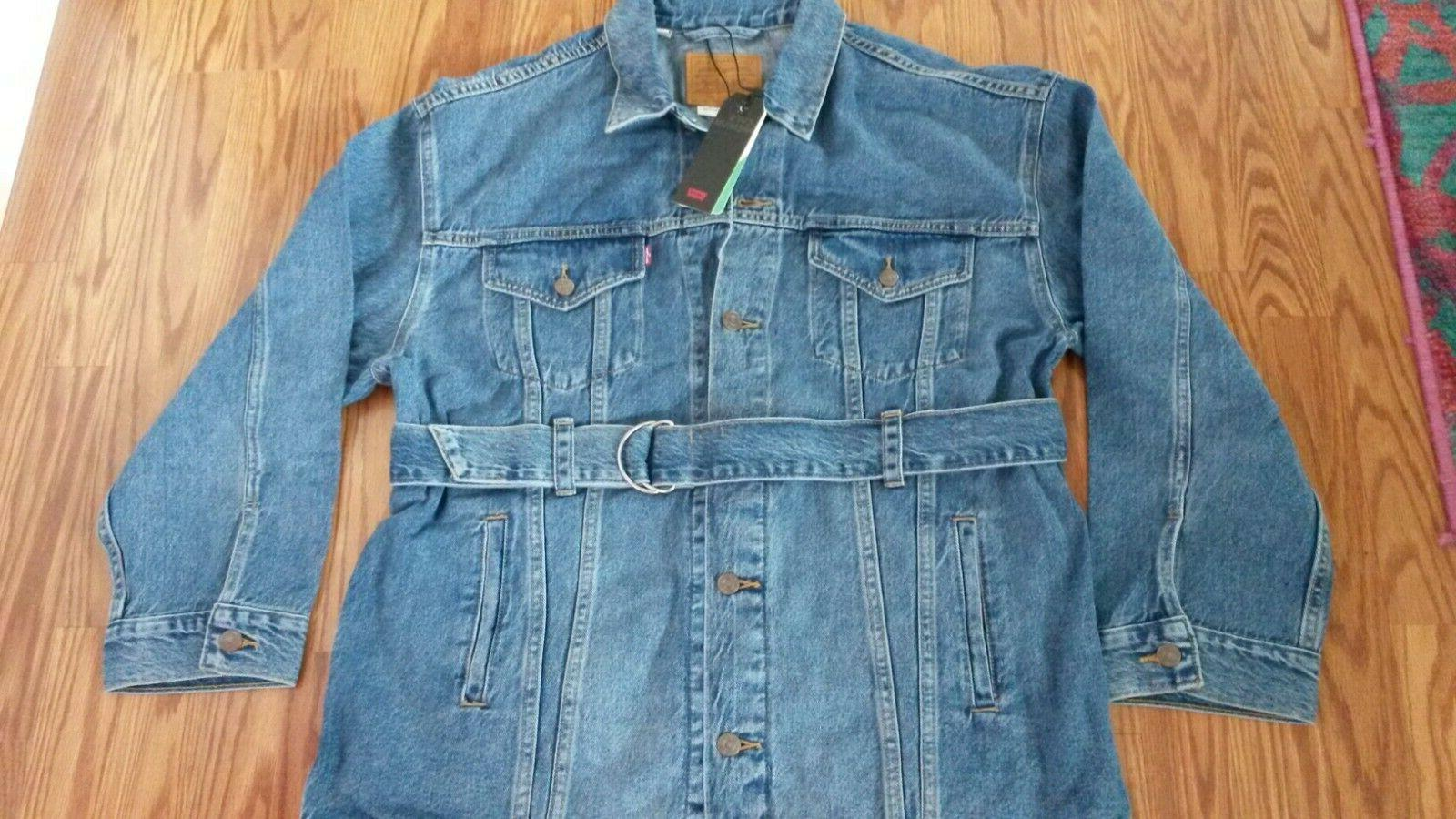 NWT Belt Out OVERSIZED Jean Jacket womens S New