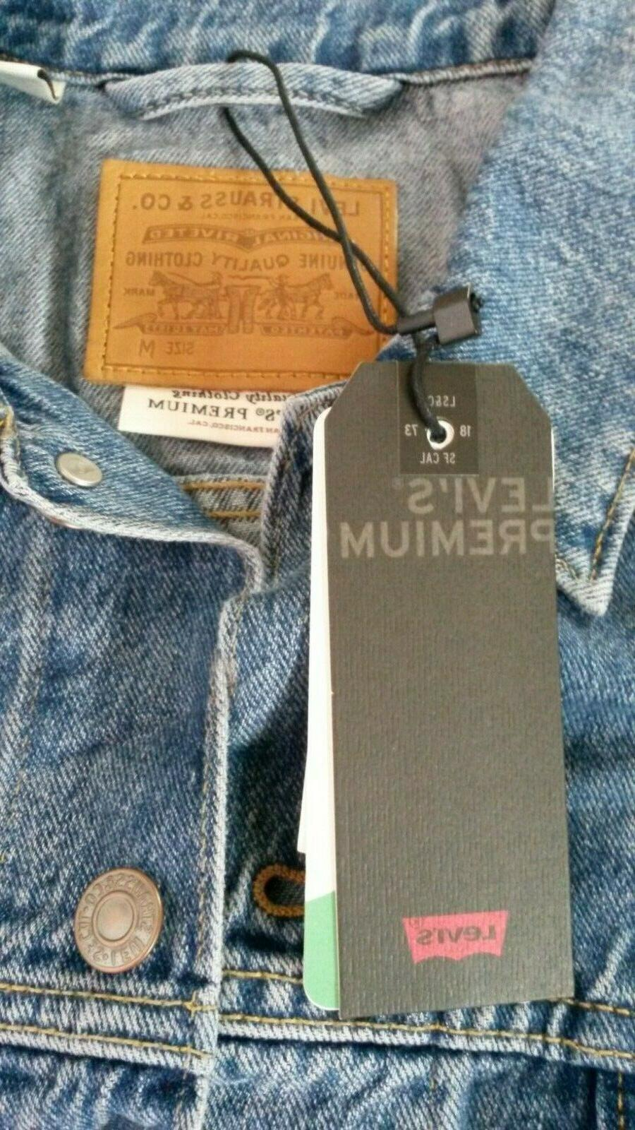 NWT LEVI'S Belt It Out Belted TRUCKER OVERSIZED S New