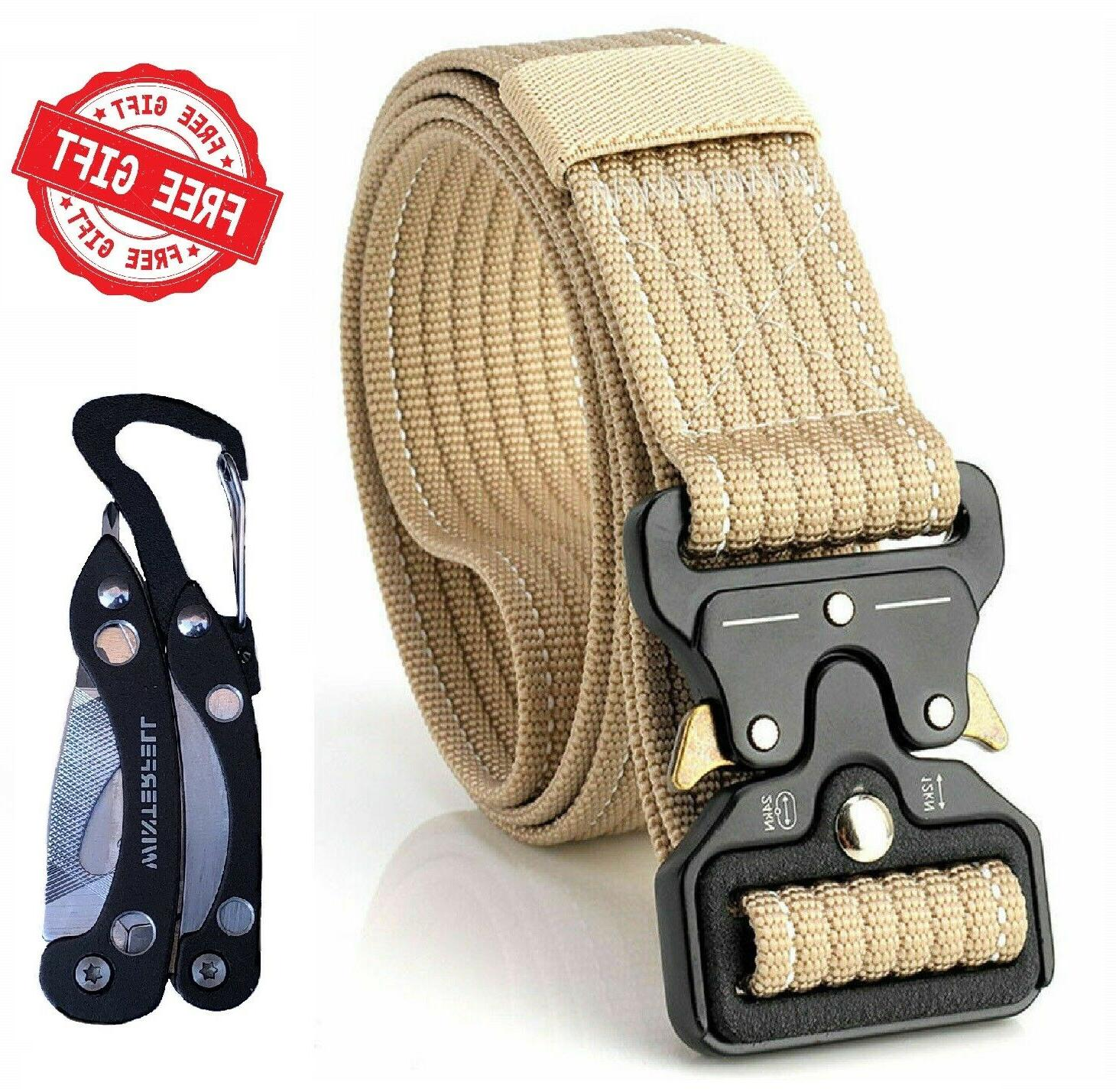 Tactical Military Durable Nylon Quick-Release Metal Buckle