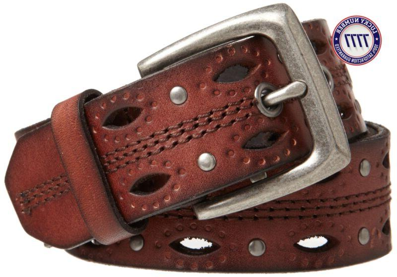 Carhartt Women'S Dearborn Studded Leather Belt, Brown, Large