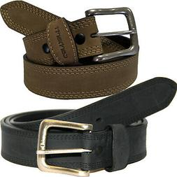 "Carhartt Leather Belt Men Detroit 1-3/8"" Triple Stitching Be"