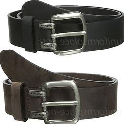 """Dickies Leather Belt Mens Approx. 1.5"""" Screw Logo Leather Be"""