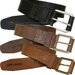 Timberland Pro Leather Belt Mens LOGO Stitch Pull-Up 40mm Le