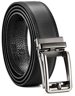 Leather Ratchet Belt for Men with One Click Buckle-Trim to C