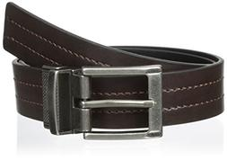 Levi's Boys' 30mm Reversible Belt with Center Stitch, Brown/