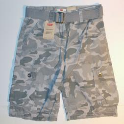 Levi's Boys Camouflage Belted Cargo Shorts Below Knee Sizes