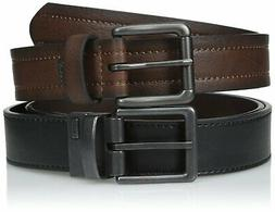 Levi's Men's 2 Belts In A Box One Reversible Jean Belt and O
