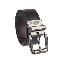 Levi's Men's Black To Brown Laminate Reversible Leather Belt