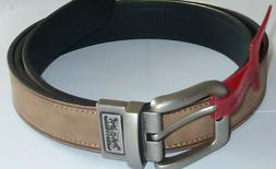 Levi's Men's Leather Top Belt  Big & Tall Reversible Brown/B
