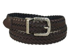 Levi's Men's LeviS Reversible Black To Brown Braid With Logo