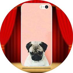 Lovely Cartoon Pug Dog for iPhone 6 6S 7 8 Plus 4 4S 5 5S 5C
