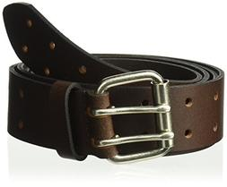 Dickies Men's 100% Leather Belt with Double Prong Buckle, He