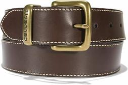 "Carhartt Men's 2200 Genuine Leather Jean Belt 44"" Brown"