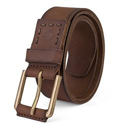 Timberland Men's 40Mm Pull Up Leather Belt, Brown, 34