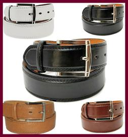 Men's Leather Casual / Dress Belt Classic Double-Stitched Ed
