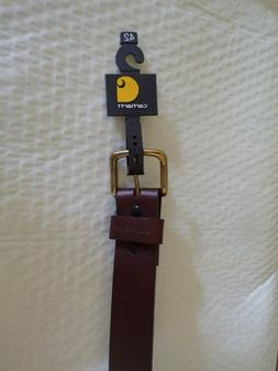 CARHARTT MEN'S GENUINE LEATHER BELT. 2201 BROWN 42""