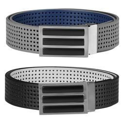 Adidas Golf Mens 3-Stripes Reversible Perforated 2-in-1 Belt