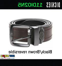 Dickies Mens 38mm Reversible Jean Belt, 11DI02N5 BLACK / BRO