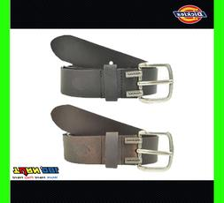 DICKIES MENS 40mm GENUINE LEATHER BELT, 11DI02M7 BLACK BROWN