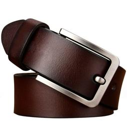 Mens Belt Genuine Leather Belts For Dress & Jeans Big & Tall