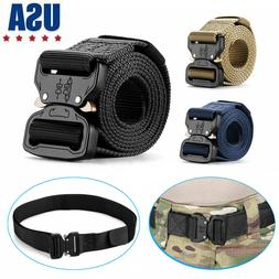 Military Tactical Belt Casual Mens Army Combat Waistband Res