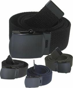 """NEW ADJUSTABLE 56"""" INCH ASSORTED CANVAS MILITARY WEB BELT BL"""