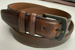 NWT Columbia Classic Men's Brown Leather Belt Men's Size 44