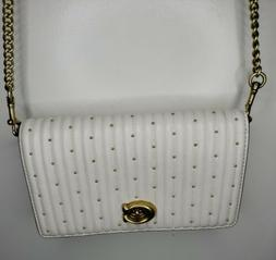 NWT Coach Quilting Convertible Belt Bag With Rivets, Chalk
