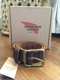 Red Wing Heritage Amber Pioneer Leather Belt; Size 32; $88.9