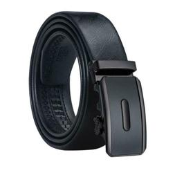 USA Formal Black Mens Belts Automatic Buckles Leather Dress