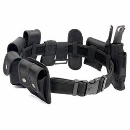 Utility Kit Tactical Belt with 9 Pouches For Police Guard Se