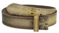Vintage Distressed Style Genuine Leather Casual Belt Strap 1