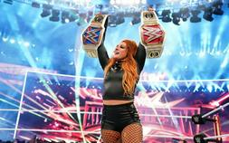 """WWE BECKY LYNCH """"THE MAN/BECKY TWO BELT"""" TWO TIME CHAMPION"""